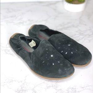 Merrell Barefoot Soft Black Suede Flats slip on